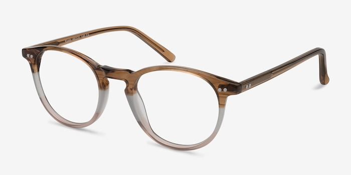 Kyoto Neapolitan Acetate Eyeglass Frames from EyeBuyDirect, Angle View