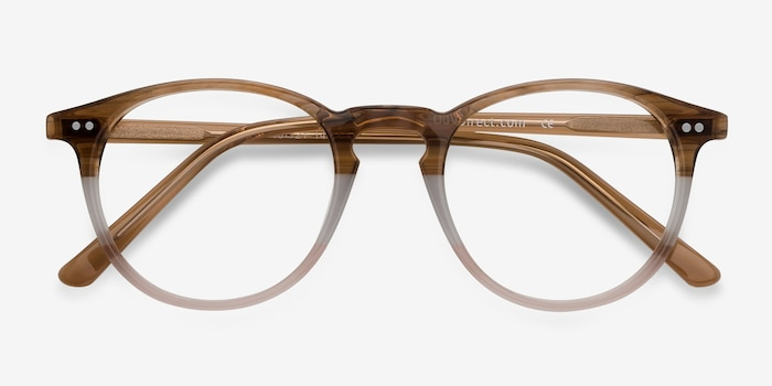 Kyoto Neapolitan Acetate Eyeglass Frames from EyeBuyDirect, Closed View