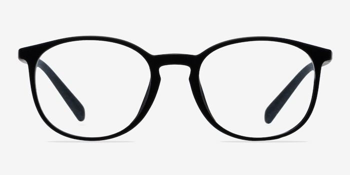 Dinah Matte Black Plastic Eyeglass Frames from EyeBuyDirect, Front View