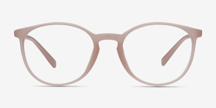 Dinah Matte Pink Plastic Eyeglass Frames from EyeBuyDirect, Front View