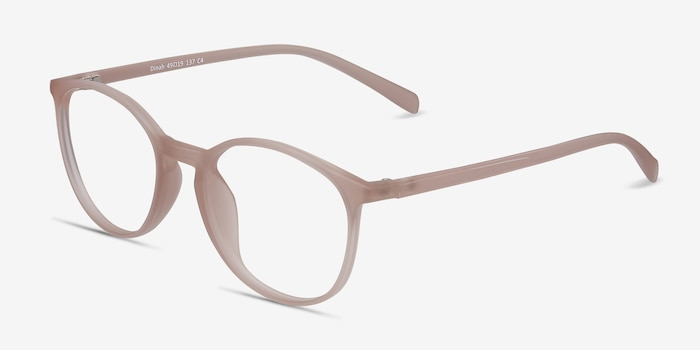 Dinah Matte Pink Plastic Eyeglass Frames from EyeBuyDirect, Angle View