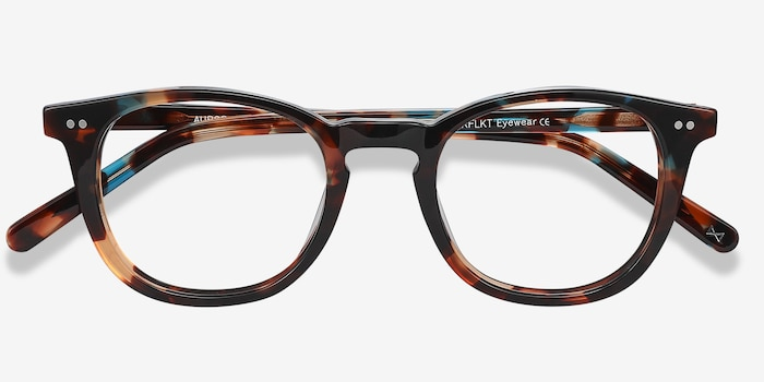 Aurora Nebular Blue Acetate Eyeglass Frames from EyeBuyDirect, Closed View