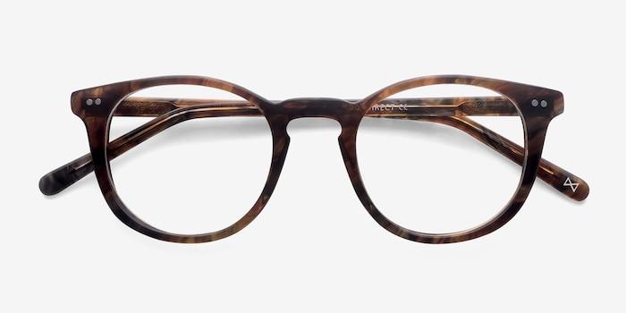 Aurora Marbled Havana Acetate Eyeglass Frames from EyeBuyDirect, Closed View
