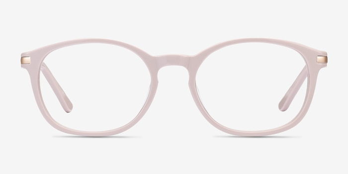 New Bedford Faded Rose Acetate Eyeglass Frames from EyeBuyDirect, Front View