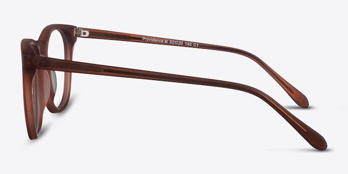 Providence Matte Brown Acetate Eyeglass Frames from EyeBuyDirect, Side View
