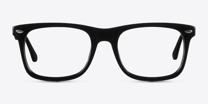 Sam Noir Acétate Montures de Lunette de vue d'EyeBuyDirect, Vue de Face