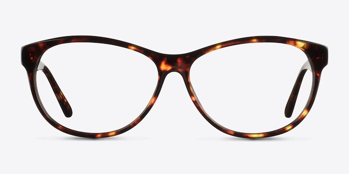 Sofia Tortoise Acetate Eyeglass Frames from EyeBuyDirect, Front View
