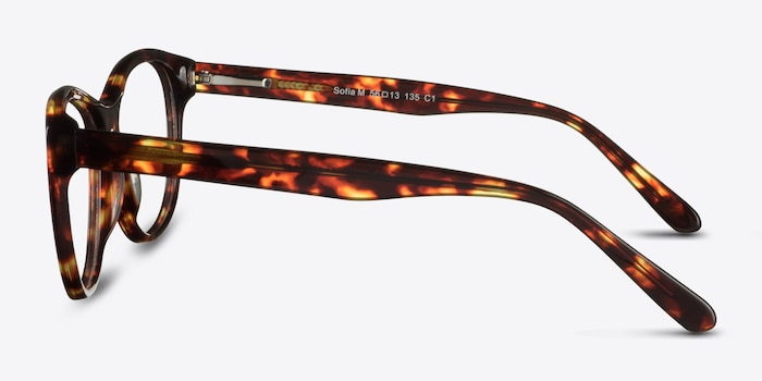 Sofia Tortoise Acetate Eyeglass Frames from EyeBuyDirect, Side View