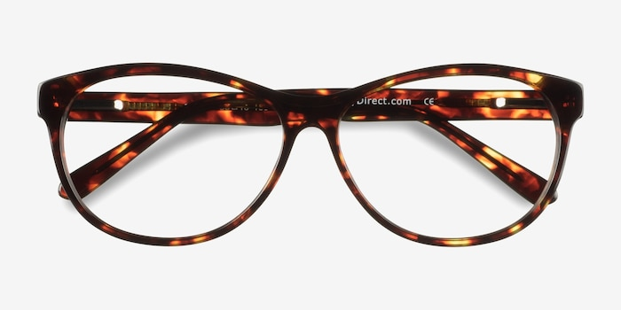 Sofia Tortoise Acetate Eyeglass Frames from EyeBuyDirect, Closed View