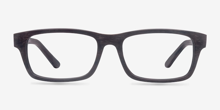 Emory Coffee Acetate Eyeglass Frames from EyeBuyDirect, Front View