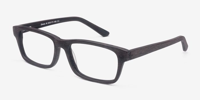 Emory Coffee Acétate Montures de Lunettes d'EyeBuyDirect, Vue d'Angle