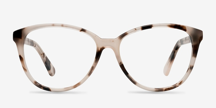 Hepburn Ivory Tortoise Acetate Eyeglass Frames from EyeBuyDirect, Front View