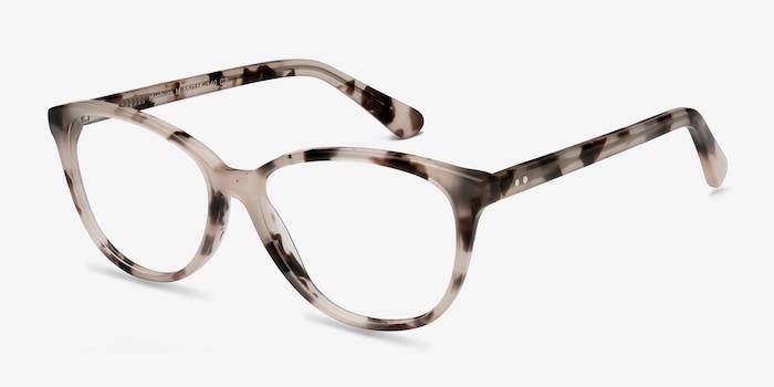 Hepburn Ivory Tortoise Acétate Montures de Lunette de vue d'EyeBuyDirect, Vue d'Angle