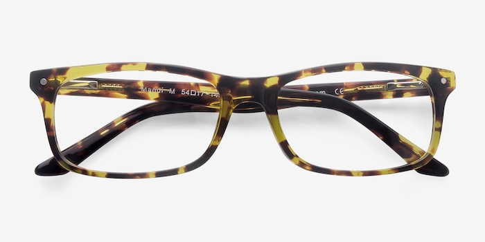 Mandi Tortoise Acetate Eyeglass Frames from EyeBuyDirect, Closed View