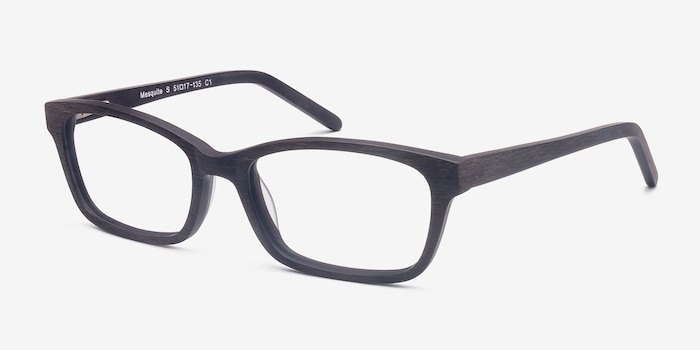 Mesquite Coffee Wood-texture Eyeglass Frames from EyeBuyDirect, Angle View