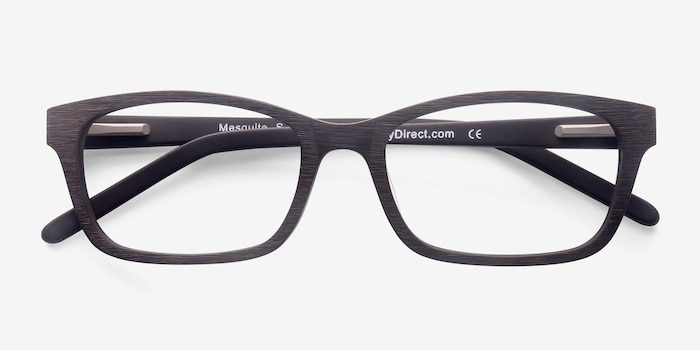 Mesquite Coffee Wood-texture Eyeglass Frames from EyeBuyDirect, Closed View