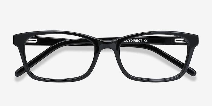 Mesquite Noir Plastique Montures de Lunettes d'EyeBuyDirect, Vue Rapprochée
