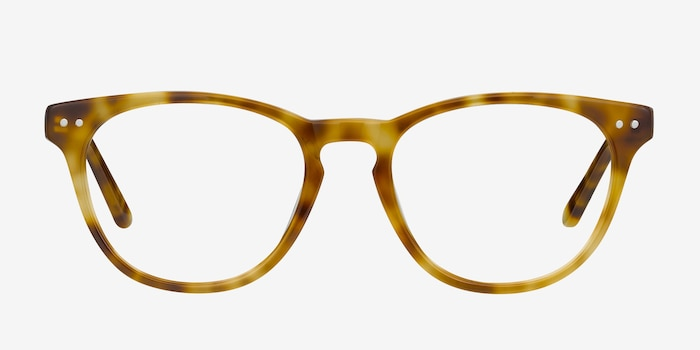 Notting Hill Tortoise Acetate Eyeglass Frames from EyeBuyDirect, Front View
