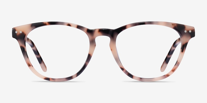 Notting Hill Ivory Tortoise Acetate Eyeglass Frames from EyeBuyDirect, Front View