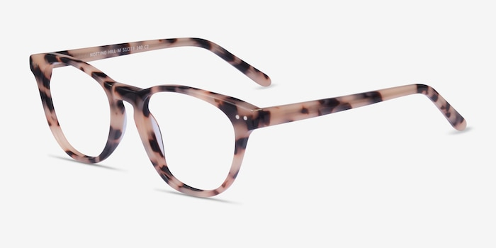 Notting Hill Ivory Tortoise Acetate Eyeglass Frames from EyeBuyDirect, Angle View