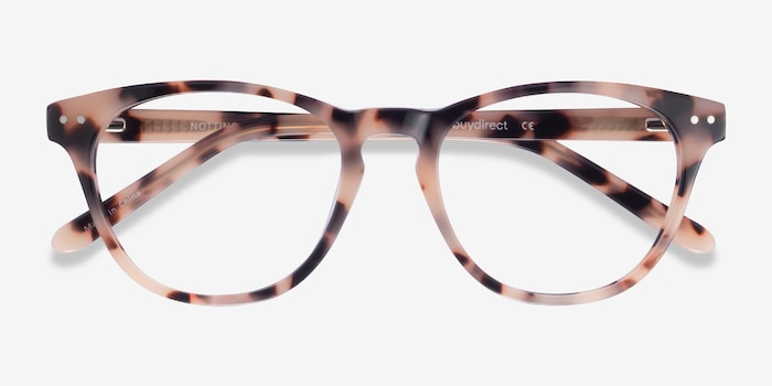 Notting Hill Ivory Tortoise Acetate Eyeglass Frames from EyeBuyDirect, Closed View