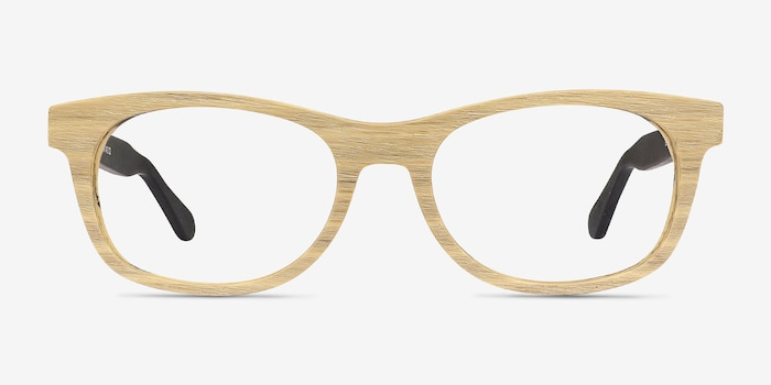 Panama Wood Acetate Eyeglass Frames from EyeBuyDirect, Front View