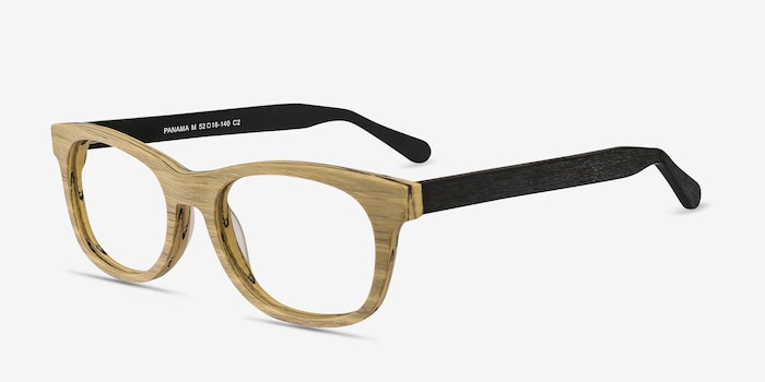 Panama Wood Acetate Eyeglass Frames from EyeBuyDirect, Angle View