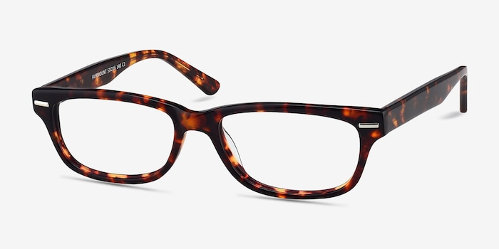 Fairmount Tortoise Acetate Eyeglass Frames from EyeBuyDirect, Angle View