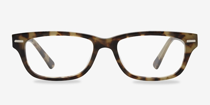Fairmount Brown Tortoise Acetate Eyeglass Frames from EyeBuyDirect, Front View