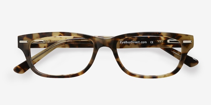 Fairmount Brown Tortoise Acetate Eyeglass Frames from EyeBuyDirect, Closed View