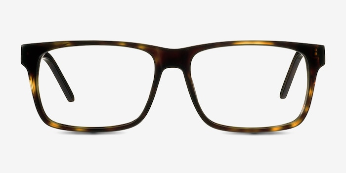 Sydney  Tortoise  Acetate Eyeglass Frames from EyeBuyDirect, Front View