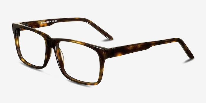 Sydney  Tortoise  Acetate Eyeglass Frames from EyeBuyDirect, Angle View