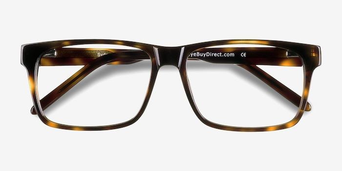Sydney  Tortoise  Acetate Eyeglass Frames from EyeBuyDirect, Closed View
