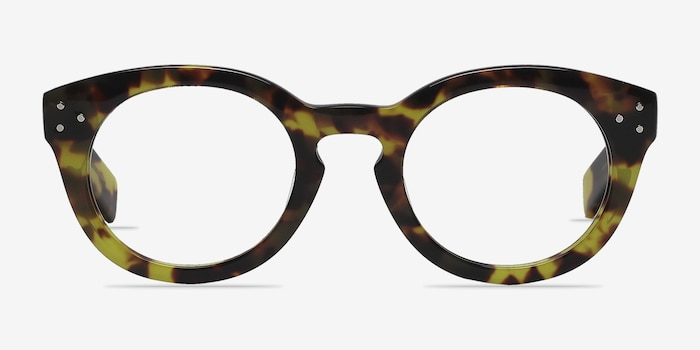 Morla Tortoise Acetate Eyeglass Frames from EyeBuyDirect, Front View
