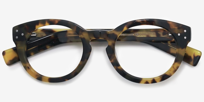 Morla Tortoise Acetate Eyeglass Frames from EyeBuyDirect, Closed View