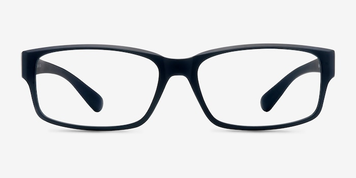 Apollo Matte Navy Plastic Eyeglass Frames from EyeBuyDirect, Front View