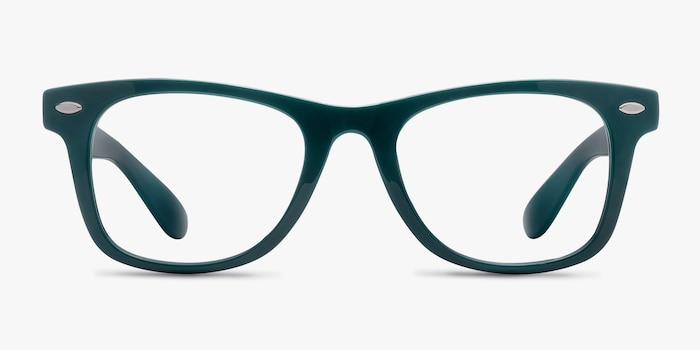 Atlee Green Plastic Eyeglass Frames from EyeBuyDirect, Front View