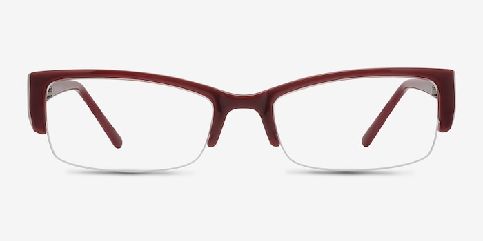 Diane  Red  Plastic Eyeglass Frames from EyeBuyDirect, Front View