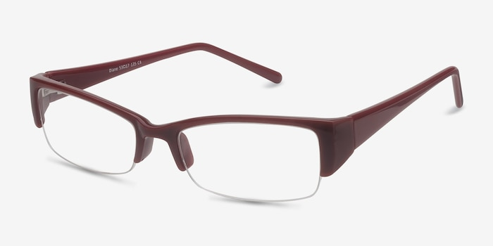 Diane  Red  Plastic Eyeglass Frames from EyeBuyDirect, Angle View