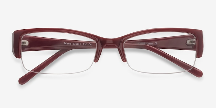 Diane  Red  Plastic Eyeglass Frames from EyeBuyDirect, Closed View