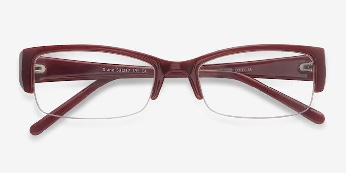 Diane  Red  Plastique Montures de Lunettes d'EyeBuyDirect, Vue Rapprochée