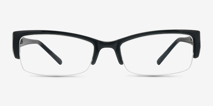 Diane  Black  Plastic Eyeglass Frames from EyeBuyDirect, Front View
