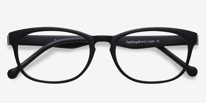 Drums Matte Black Plastic Eyeglass Frames from EyeBuyDirect, Closed View