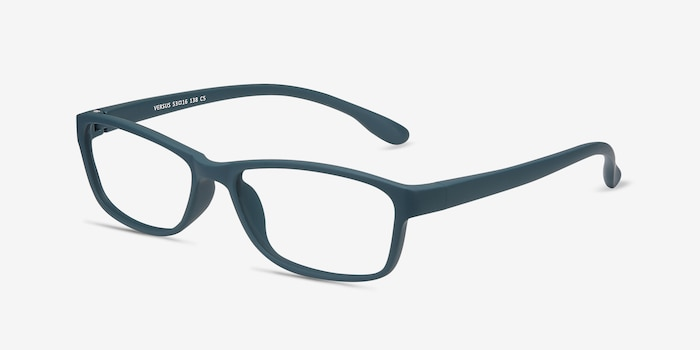 Versus Matte Green Plastic Eyeglass Frames from EyeBuyDirect, Angle View