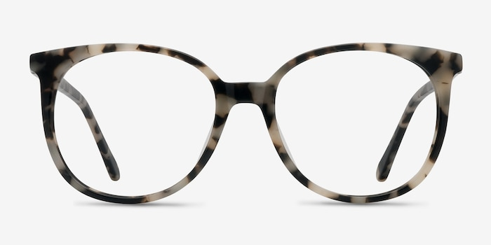 Bardot Ivory Tortoise Acetate Eyeglass Frames from EyeBuyDirect, Front View