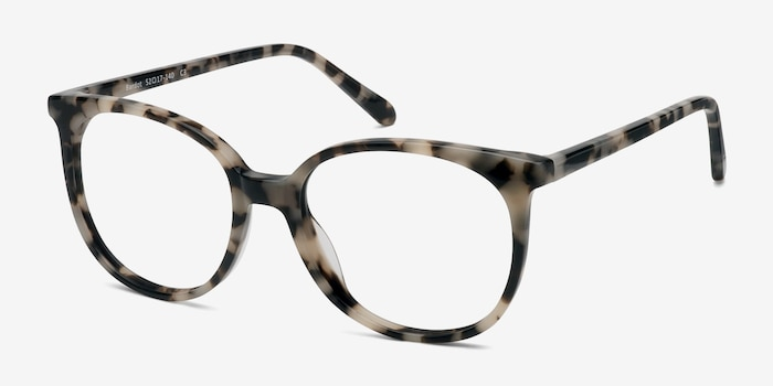 Bardot Ivory Tortoise Acetate Eyeglass Frames from EyeBuyDirect, Angle View