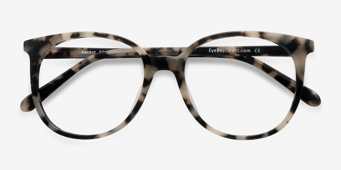 Bardot Ivory Tortoise Acetate Eyeglass Frames from EyeBuyDirect, Closed View