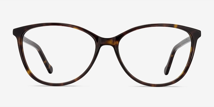 Charlize Tortoise Acetate Eyeglass Frames from EyeBuyDirect, Front View