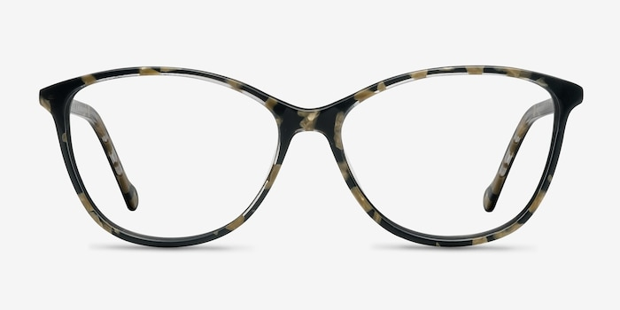 Charlize Floral Acetate Eyeglass Frames from EyeBuyDirect, Front View