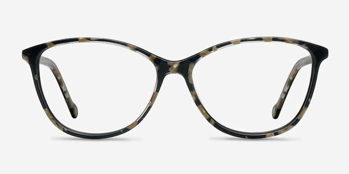Charlize Fleuries Acétate Montures de Lunettes d'EyeBuyDirect, Vue de Face